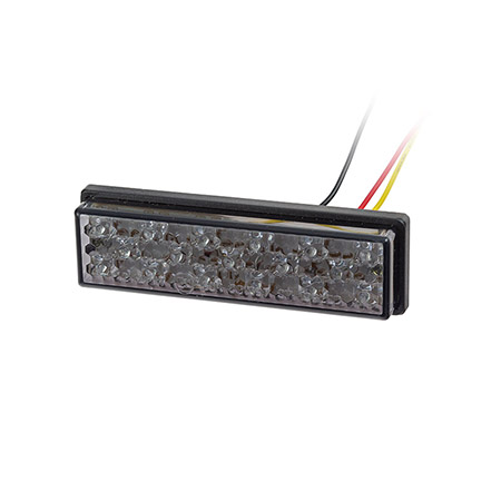 Universal Motorrad LED-Rücklicht Superflat mit Befestigungslaschen ohne Kennzeichenbeleuchtung getönt E-geprüft