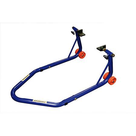 Montageständer PRO 3 hinten mit L-Schwingenaufnahme blau motoprofessional