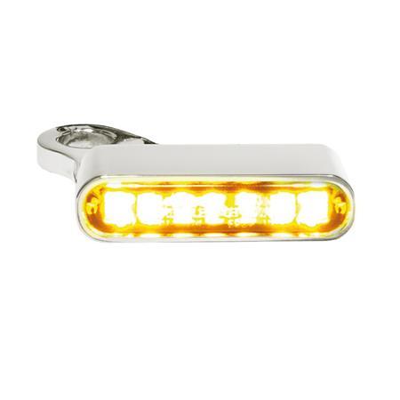 LED Armaturen Blinker für Harley Davidson Sportster Modelle ab 2014 silber