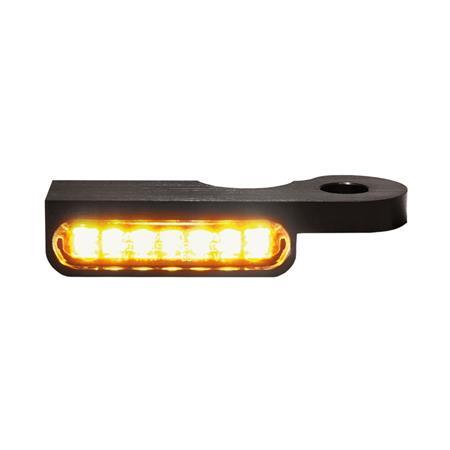 LED Armaturen Blinker für Harley Davidson Dyna Modelle ab 1996 schwarz