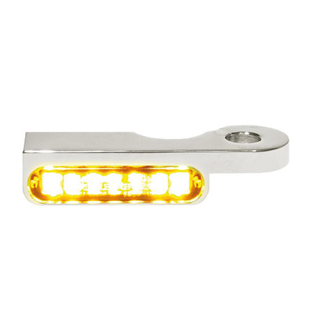 LED Armaturen Blinker für Harley Davidson Dyna Modelle ab 1996 silber