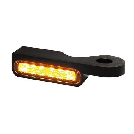 LED Armaturen Blinker für Harley Davidson Softail Modelle bis 2014 schwarz