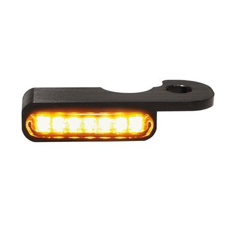 LED Armaturen Blinker für Harley Davidson Breakout Modelle mit hydraulischer Kupplung schwarz