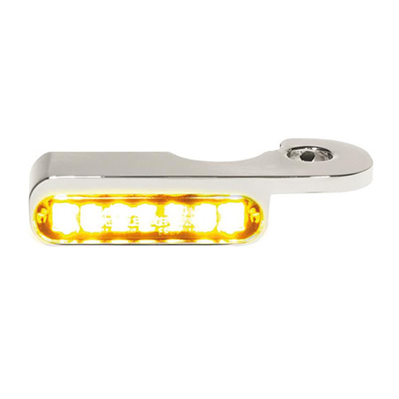 LED Armaturen Blinker für Harley Davidson Breakout Modelle mit hydraulischer Kupplung silber