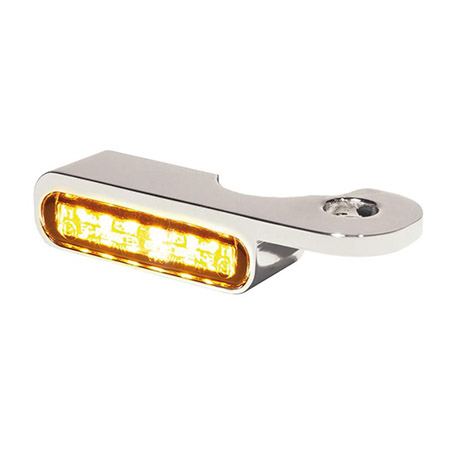 LED Armaturen Blinker für Harley Davidson Night- V-Rod Modelle ab 2002 silber