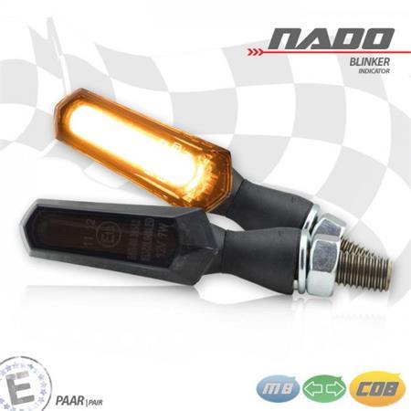 Universal Motorrad COB-Blinker Nado Alu getönt M8 E-geprüft
