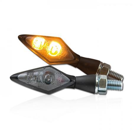 Universal Motorrad LED-Blinker Spark getönt M8 E-geprüft