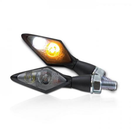 Universal Motorrad LED-Blinker Spark mit Standlichtkombination getönt M8 E-geprüft