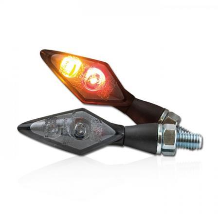Universal Motorrad LED-Blinker Spark mit Rücklichtkombination getönt M8 E-geprüft
