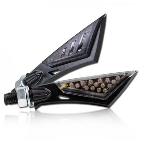 Universal Motorrad LED-Blinker Sword getönt M8 E-geprüft
