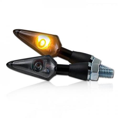 Universal Motorrad Power-LED-Blinker Spearhead next Generation getönt M8 E-geprüft