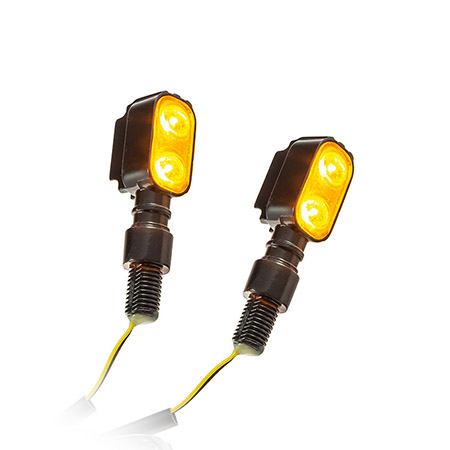 Universal Motorrad Power-LED-Blinker Fluted getönt M10 E-geprüft