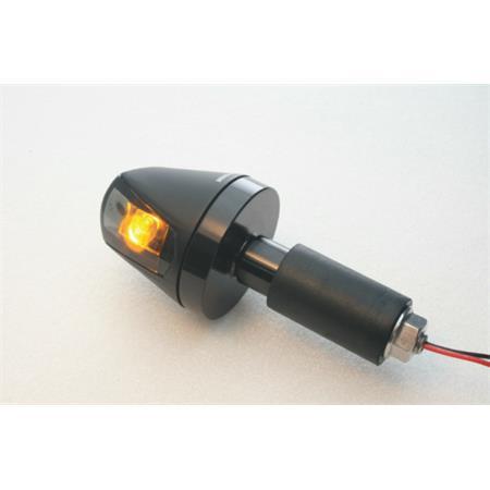 Universal Motorrad Lenkerenden - Hi-Power-LED Blinker Knight schwarz getönt E-geprüft 1 Paar