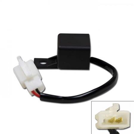 Blinkrelais 12V, (0,1-130 Watt), lastunabhängig 3er Stecker weiblich 2 Pins