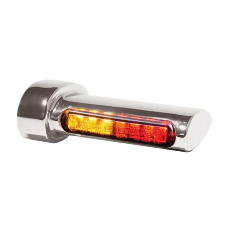 Winglets 3in1 LED Blinker Bremslicht / Rücklicht für alle Harley-Davidson Modelle ab 93- silber