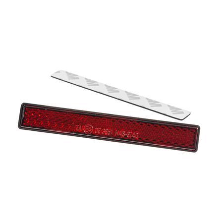 Daytona Rückstrahler selbstklebend rot 13 x 100 mm
