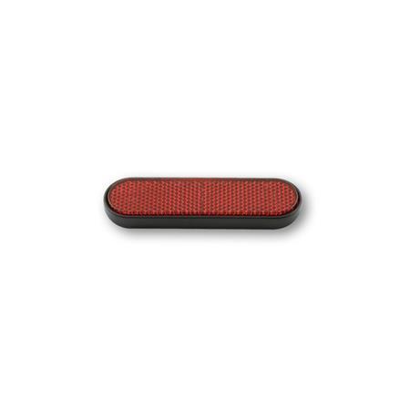 Rückstrahler gebogene Form, rot mit selbstklebender Folie 100x28mm