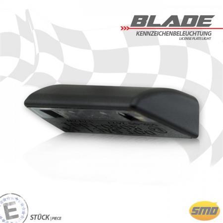 LED-Kennzeichenbeleuchtung Blade schwarz E-geprüft inkl. Halter zur Befestigung von Kennzeichenbeleuchtung