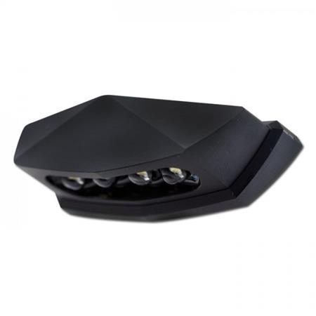 LED-Kennzeichenbeleuchtung Diamond schwarz E-geprüft inklusive Halter zur Befestigung von Kennzeichenbeleuchtung