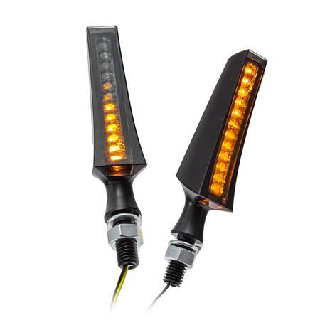 HIGHSIDER LED Sequenz-Blinker STS 1 schwarzes Gehäuse, getöntes Glas