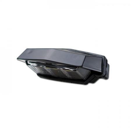 SMD-Kennzeichenbeleuchtung Flat schwarz E-geprüft mit passenden Halter zur Befestigung von Kennzeichenbeleuchtung