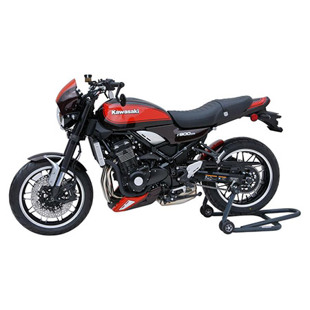 BODYSTYLE Sportsline Black Hinterradabdeckung Kawasaki Z 900 RS BJ 2018 braun/orange