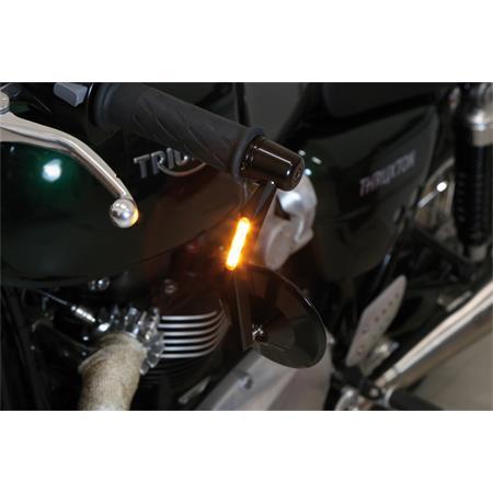 Lenkerendenspiegel MONTANA mit LED Blinker schwarz E-gepr. Paar