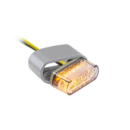 LED-Einbaublinker Heat getönt Paar inklusive passenden Gehäuse
