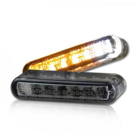 LED-Einbaublinker inklusive Positionslicht Streak getönt Paar