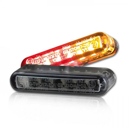 LED-Einbaublinker inklusive Rücklicht Streak getönt Paar