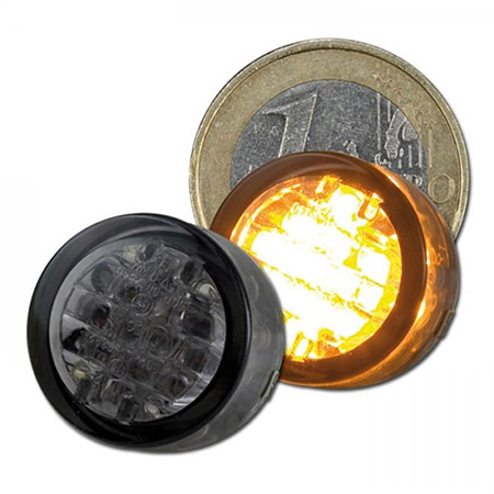 LED-Einbaublinker Twenty getönt Paar