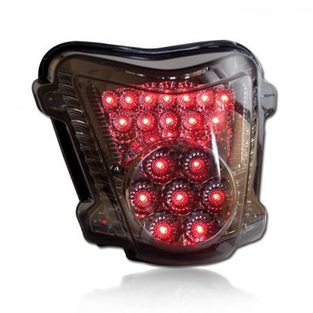 LED Rücklicht Suzuki GSX 1300 R Hayabusa BJ 2008-12 getönt E-geprüft