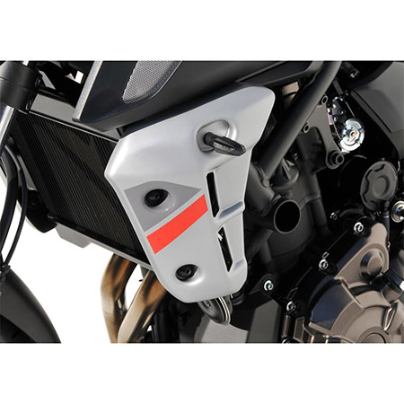 BODYSTYLE Sportsline Kühlerseitenverkleidung Yamaha MT-07 BJ 2017-19 grau/rot