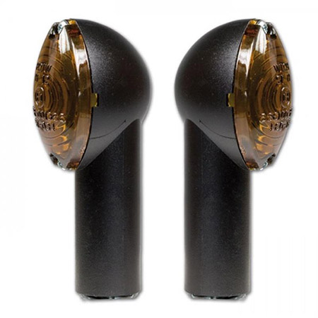 Halogen-Blinker Micro schwarz getöntes Glas M10 E-geprüft