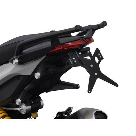 Kennzeichenhalter Ducati Hypermotard 821 BJ 2013-15 / Hyperstrada 821 BJ 2013-15 / Hypermotard 939 BJ 2016-19 / Hyperstrada 939 BJ 2016-19 X-Line