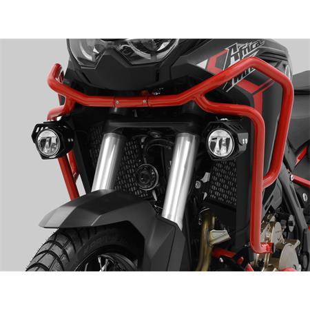 LED Zusatzscheinwerfer inkl. Halteset für Nebel (Paar) mit Gehäuse für Honda CRF 1100 DL Africa Twin BJ 2020-21