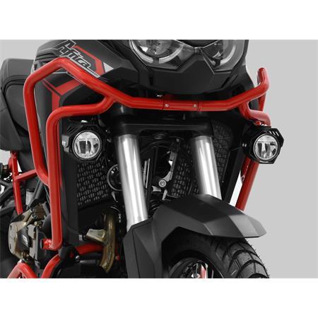 LED Zusatzscheinwerfer inkl. Halteset für Ablendlicht (Paar) mit Gehäuse für Honda CRF 1100 DL Africa Twin BJ 2020-21