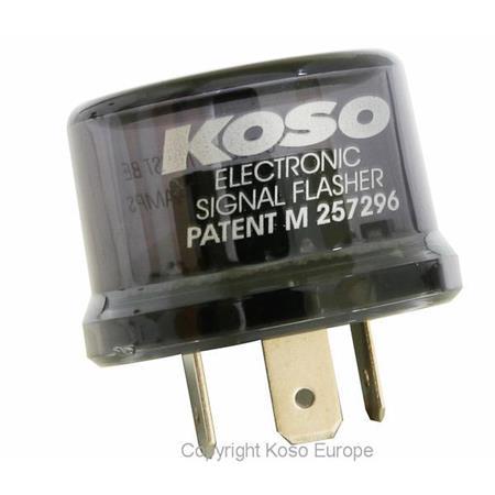 Blinkerrelais KOSO Digital, 12V, Stecker mit 3 Pins, inkl. Adapter, max. 15A, mit Defekterkennung (programmierbar)