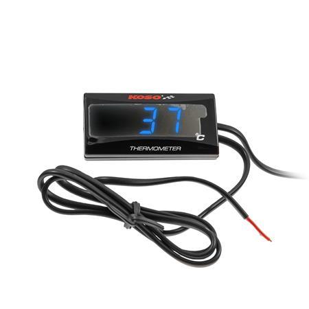 KOSO Thermometer SUPER SLIM blau