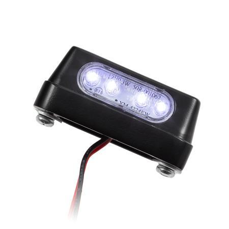 LED-Kennzeichenbeleuchtung Zest Alu schwarz E-geprüft