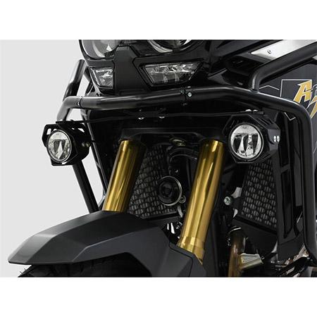 LED Zusatzscheinwerfer inkl. Halteset für Nebel (Paar) mit Gehäuse für Honda CRF 1100 L Africa Twin BJ 2020-21