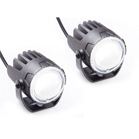 LED Fernscheinwerfer High-Beam matt schwarz Paar