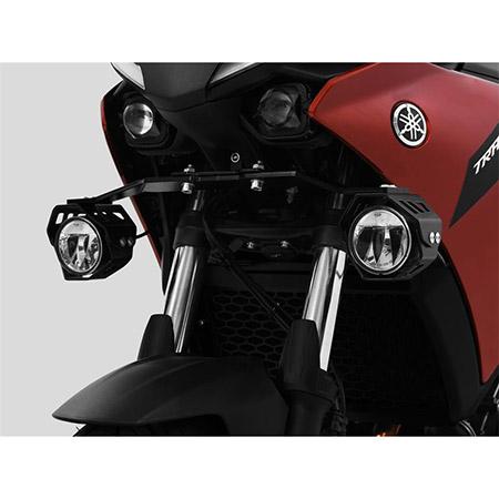LED Zusatzscheinwerfer inkl. Halteset für Ablendlicht (Paar) mit Gehäuse für Yamaha Tracer 7 BJ 2021-22 / Tracer 700 BJ 2021-22
