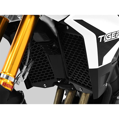 ZIEGER Pro Kühlerabdeckung Triumph Tiger 900 BJ 2019-21 / Tiger 900 GT BJ 2019-21 / Tiger 900 GT Pro BJ 2019-21 / Tiger 900 Rally BJ 2019-21 / Tiger 900 Rally Pro BJ 2019-21 schwarz