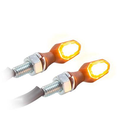 Universal Motorrad LED Blinker Crumb