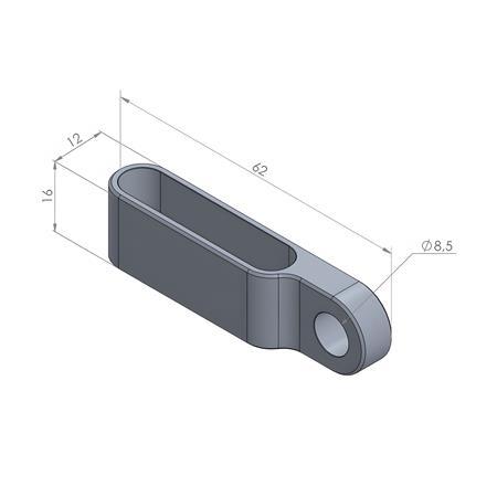 Montage-Gehäuse für Einbaulinker Paar in schwarz Typ1