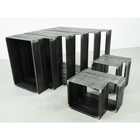 Tischbeine Tischkufen Tischgestell Tischuntergestell Kufengestell Rohstahl Paar