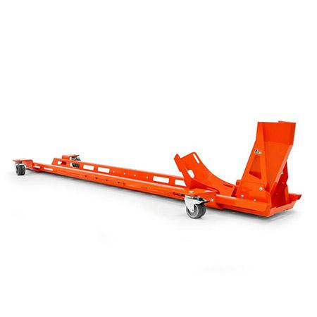 Rangierschiene inkl. Wippe für Motorrad orange