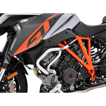 Sturzbügel KTM 1290 Super Duke GT BJ 2016-18 / 1290 Super Duke R BJ 2014-18 silber