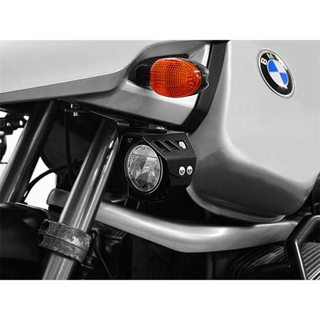 LED Zusatzscheinwerfer inkl. Halteset für Nebel (Paar) mit Gehäuse für BMW R 1150 GS BJ 1999-04